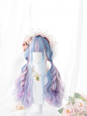 Evahair Lolita Multicolored Long Wavy Synthetic Wig with Bangs