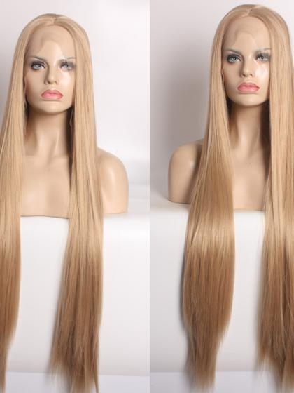 Super Long Natural Blonde Synthetic Wigs