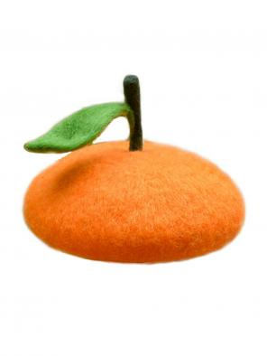 Small Orange Mori Hat