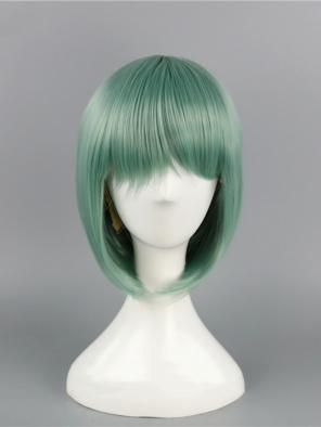 Evahair Green Bob Short Synthetic Wig with Bangs