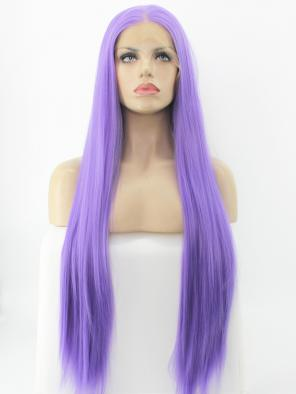 30'' 2019 Meta Gala Kylie Jenner Inspired Lavender Synthetic Hip Length Wig