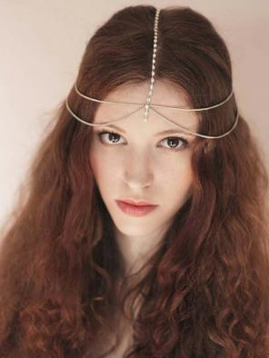 Evahair Golden and White Head Chains