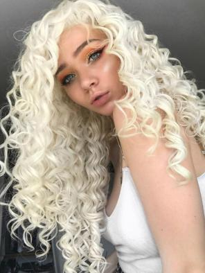 Amazing Pastel Blonde Synthetic Lace Front Wig