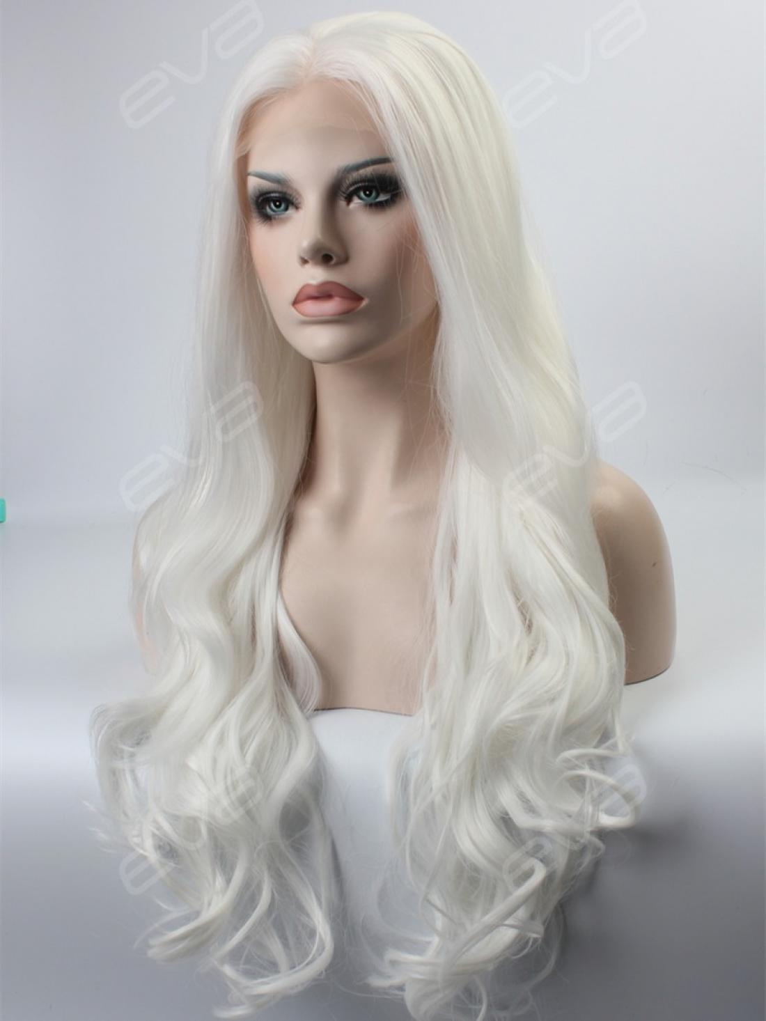 Long Blonde Synthetic Lace Front Wigs