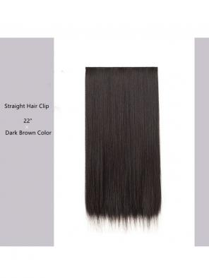 "Evahair 22"" Dark Brown Hair Clip in Hair Extensions"