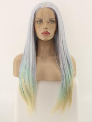 Unicorn Mix Color Synthetic Lace Front Wig