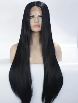 36 inches Long Classical Black PREMIUM FULL LACE WIG