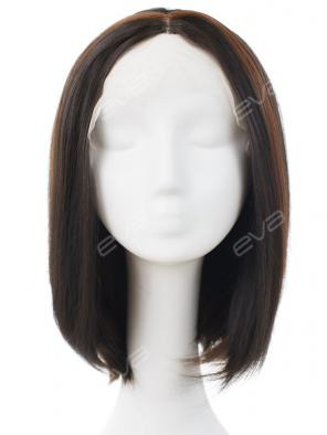 Mixed Color Brown Bob Synthetic Lace Front Wig