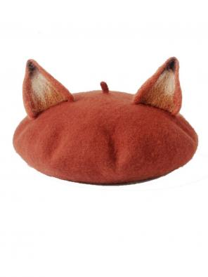 Kawaii Mori Fox-Ears Beret Hat